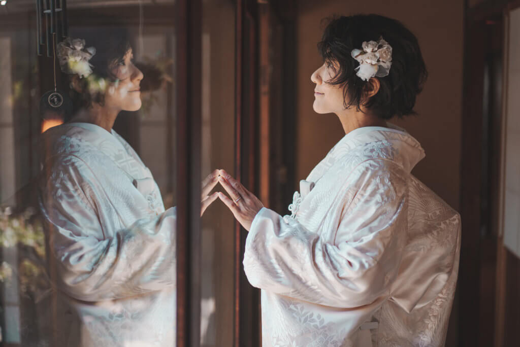 フォトブライダル 婚礼写真 白無垢 古民家での撮影